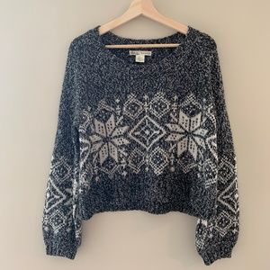 Kaisely Oversized Cropped Sweater